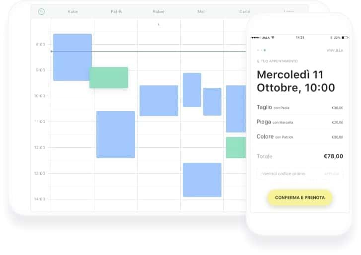 Immagine della schermata prenotazione online