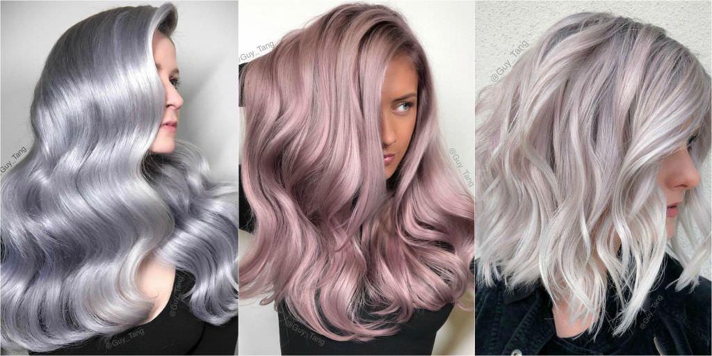 Foto capelli modelle colori metallici