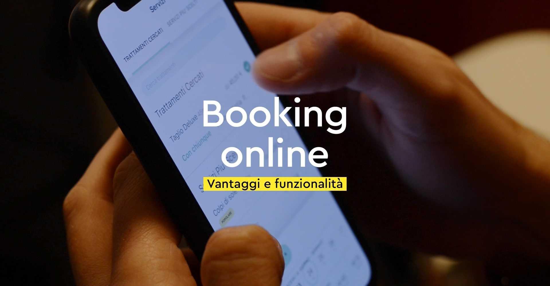 Foto Prenotazione online saloni con smartphone