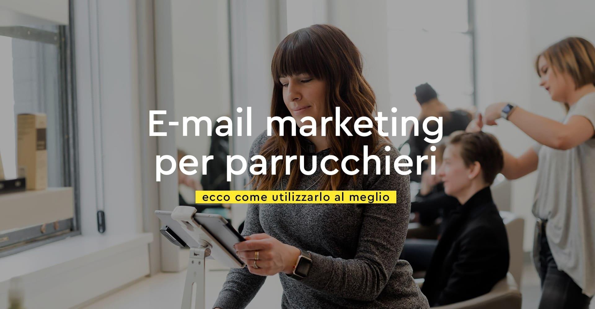 Copertina blog email marketing per parrucchieri